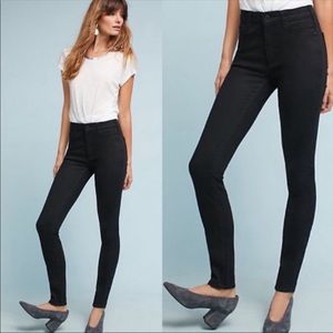 Anthropologie pilcro black high rise skinny jeans